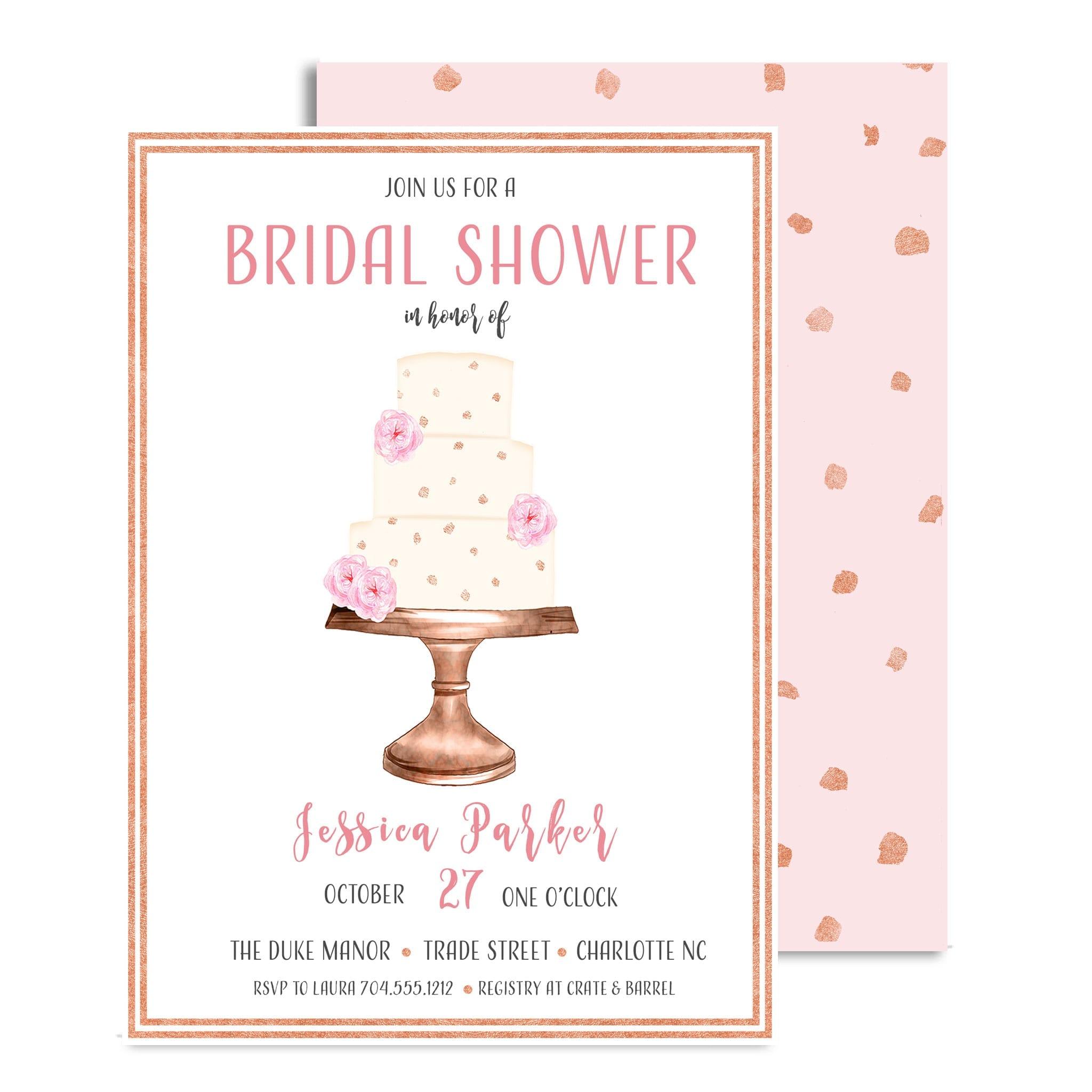 Decadence Cake Bridal Shower Invitations | Posh Paper + Ink